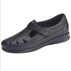 BNIB SAS Roamer Black Leather Loafer Shoes 8.5W